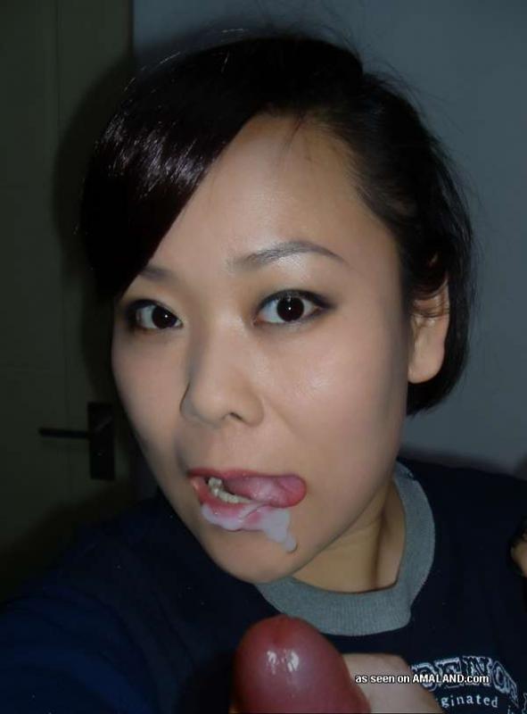 Мужик прикормил спермой азиатскую женщину